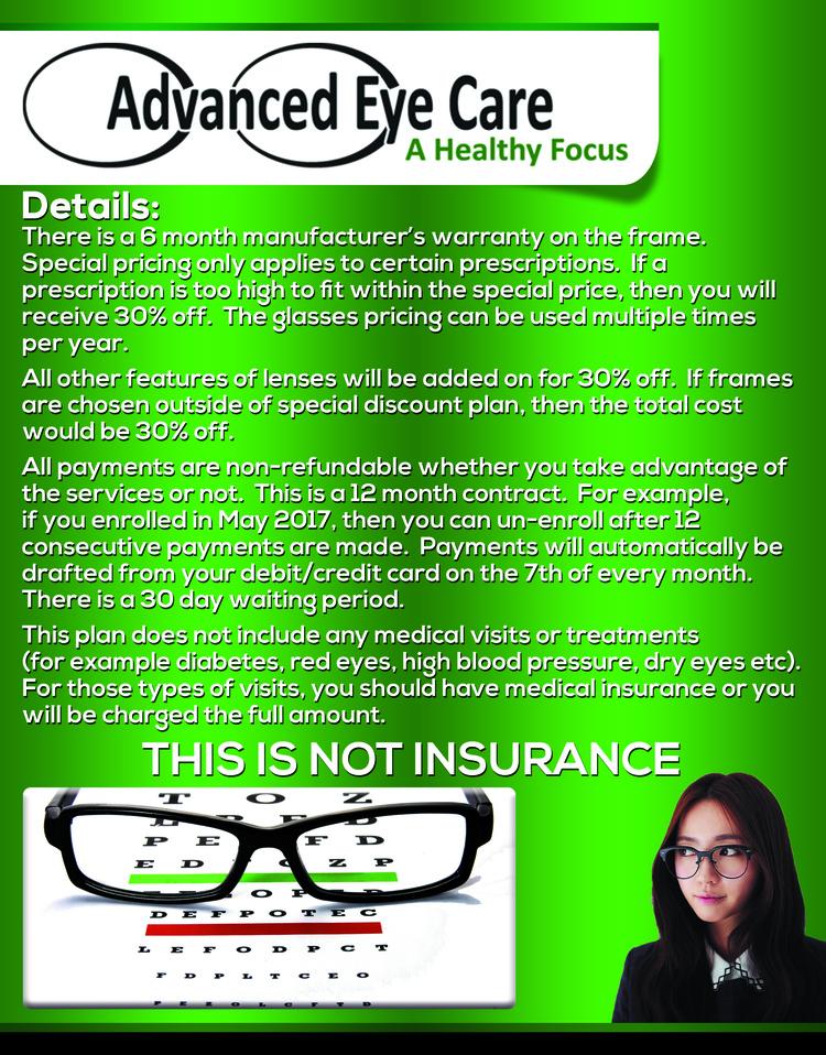 Homewood Optometrist | Homewood Vision Discount Plan | AL | Advanced Eye Care |