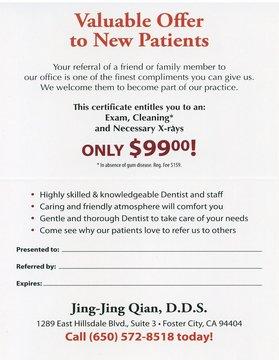 Foster City Dentist   Dentist in Foster City    Dr. Jing Jing Qian   Jing Jing Qian Dental Office   CA