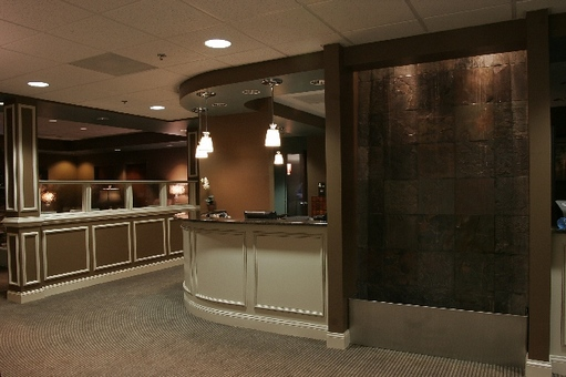 Front Desk and Waterwall