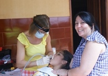 Director of the orphanage Silvana was our dental assistant and translator