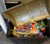 Kids get to choose a prize from the treasure chest