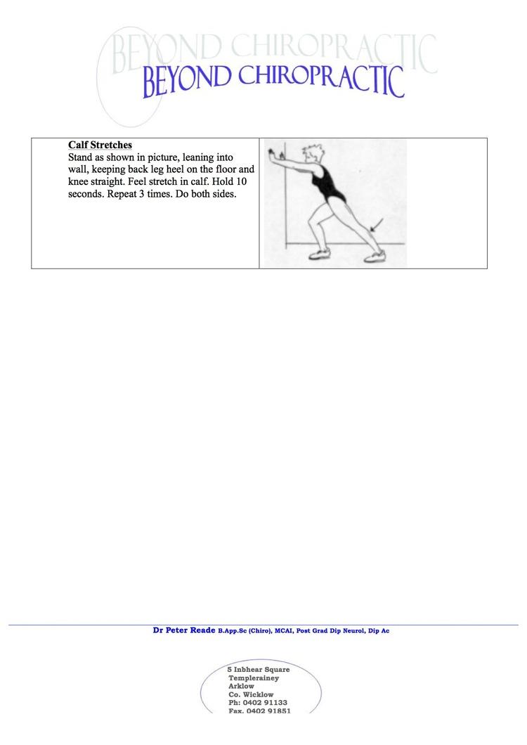 Arklow Chiropractor | Arklow chiropractic Calf |   |