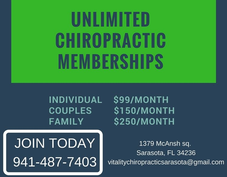 Sarasota Chiropractor   Sarasota chiropractic Memberships    FL  