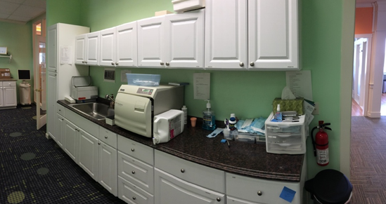 image of sterilization area in dental care of woodstock