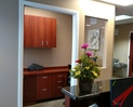 View to desk for office manager