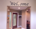 Welcome sign in foyer