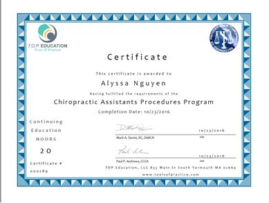 Chiropractic_Assistant_Certificate