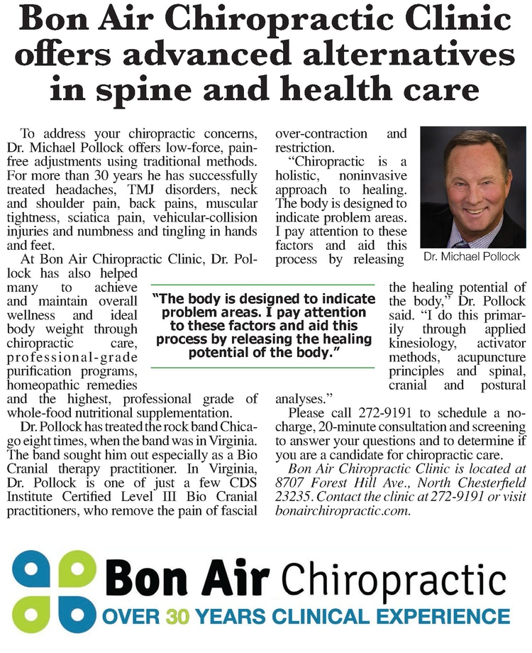 N. Chesterfield Chiropractor | N. Chesterfield chiropractic In The News |  VA |