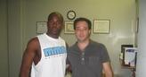 Dr. Cooper with Cincinnati Bengals DB Chinedum Ndukwe