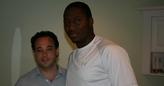Dr. Cooper with Cincinnati Bengals DE Carlos Dunlap