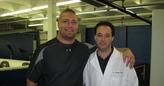 Dr. Cooper wtih Seatlle Eagles FB Owen Schmitt