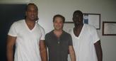 TE's Randy McMichael (St. Louis Rams) and OJ Santiago (Atlanta Falcons)