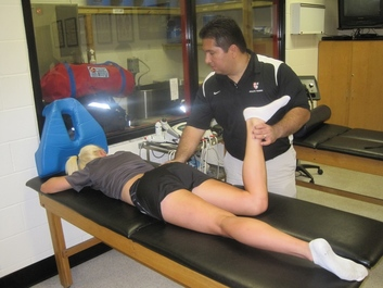 Barry University athletic training room