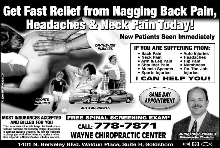 Goldsboro Chiropractor | Goldsboro chiropractic Promotions |  NC |