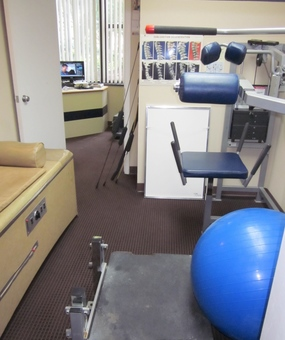 Therapy Room looking into Dr. Cohen's Personal Office