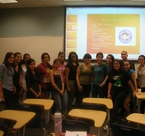 Dr. Lista with the pre-vet students at FIU