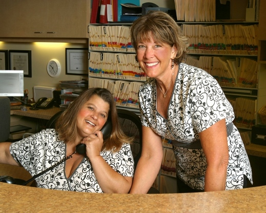 The friendly front office ladies, April and Nancy