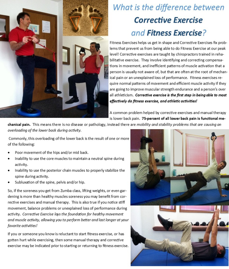 Olympia Chiropractor | Olympia chiropractic What is the Difference Between Corrective Exercise and Fitness Exercise? |  WA |