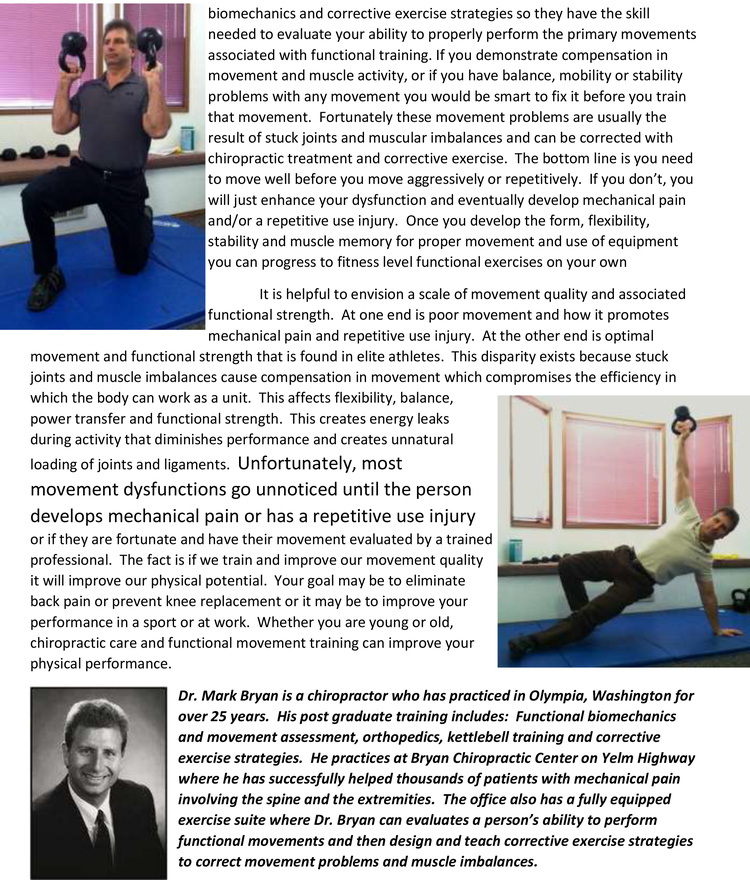 Olympia Chiropractor | Olympia chiropractic Join the Fitness Revolution |  WA |