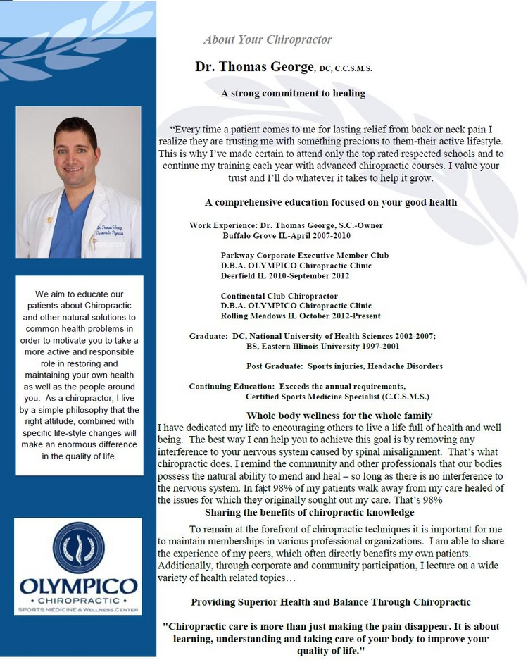 Rolling Meadows Chiropractor | Rolling Meadows chiropractic Meet The Doctor |  IL |