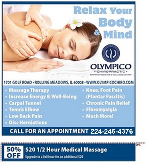 Rolling Meadows Chiropractor   Rolling Meadows chiropractic Different Types of Massage Therapy    IL  