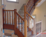 New, Existing Fir Railings: MC Paint Custom Toner Applied To Walnut Finish