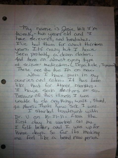 Testimony from Josie