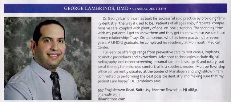 George Lambrinos DMD PC in Monroe Township NJ