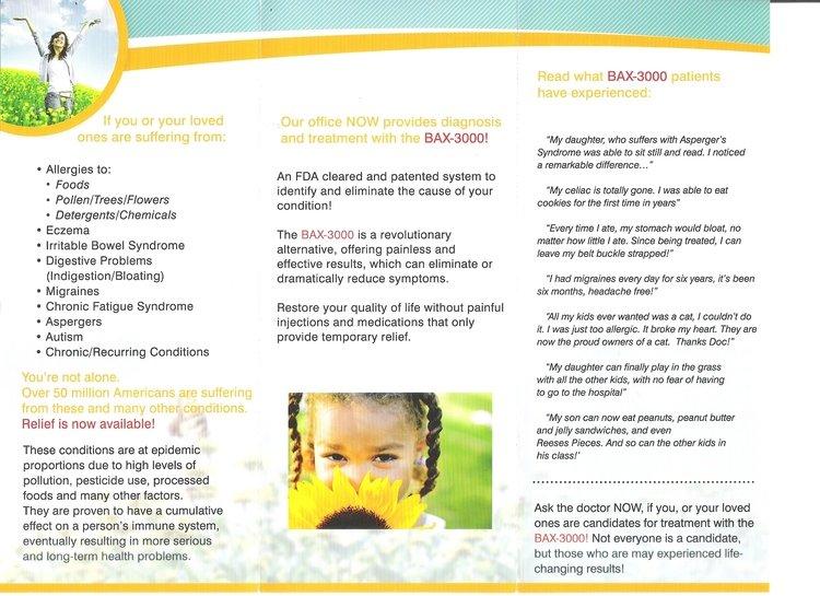 Dublin Chiropractor | Dublin chiropractic BioAllergenix Brochure |  CA |