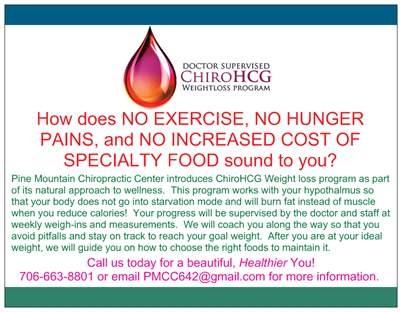Pine Mountain Chiropractor | Pine Mountain chiropractic ChiroHCG Weight Loss Program  |  GA |