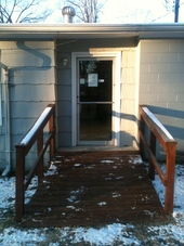 Ramp Access in Rear of Hospital