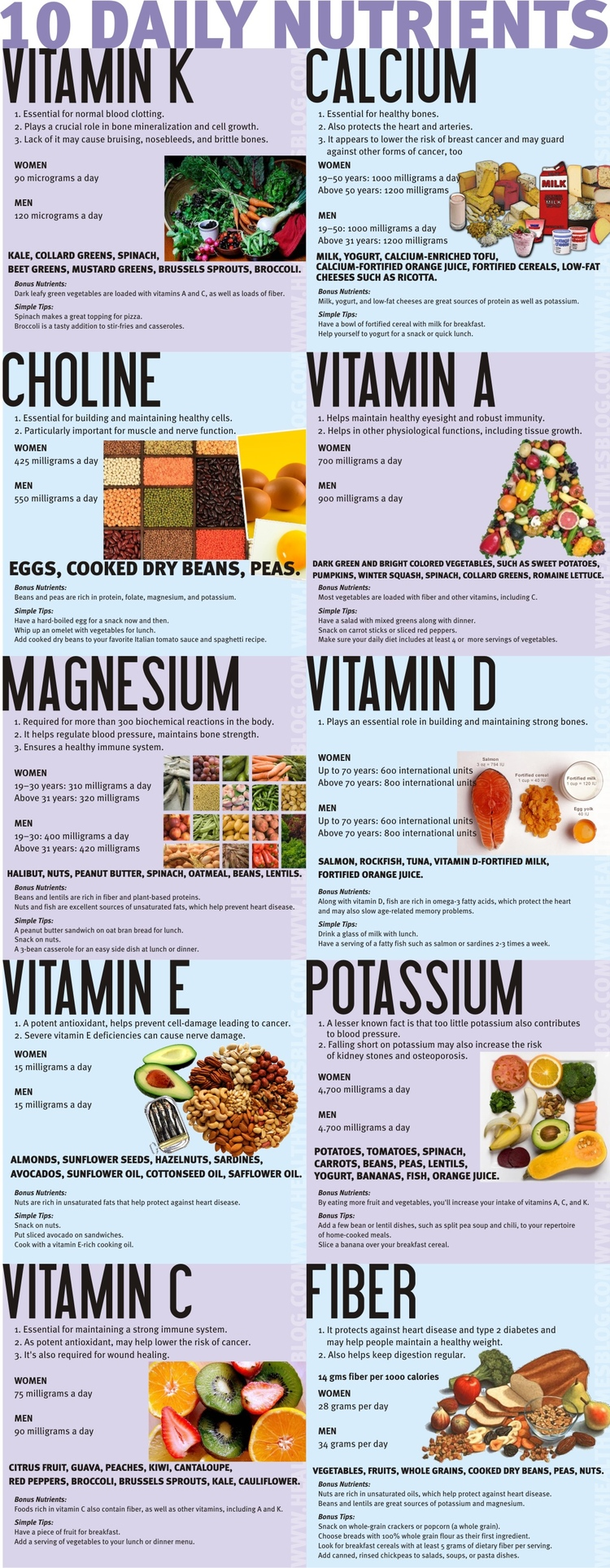 North Adams Chiropractor | North Adams chiropractic 10 Daily Nutrients You Need |  MA |