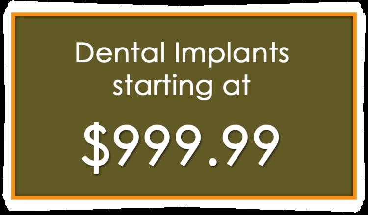 Dental Implants Starting at 999.99