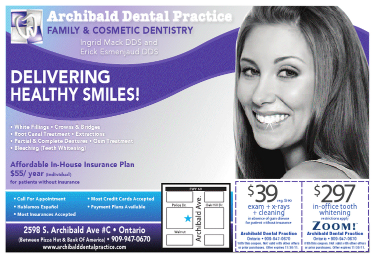 Archibald Dental Practice in Ontario CA