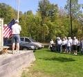 Raising the flag Trails End
