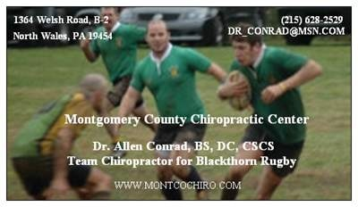 Team Chiropractor for Blackthorn Rugby