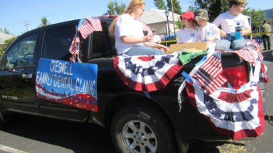 Thank you Creswell, we had a great time in the parade!