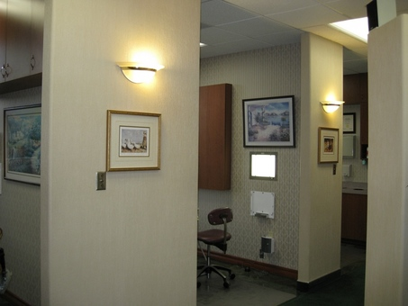 Hallway, 3 treatment rooms insure privacy