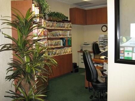 Employee front desk area